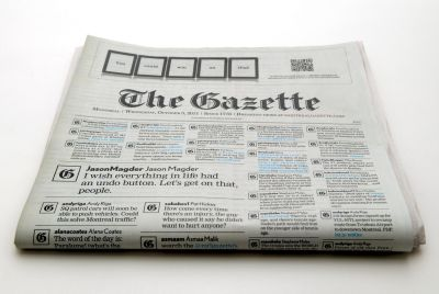 The Gazette front page