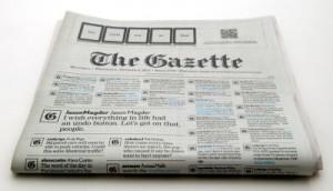 The Gazette front page