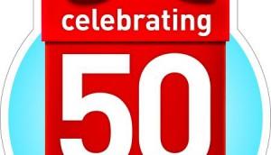 50th SDM EN logo outline