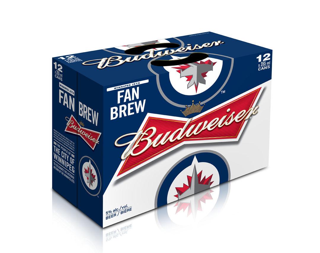 """Budweiser Releases Limited Edition """"Winnipeg Jets Fan Brew"""""""