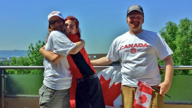 Canada Day 2 Shana, Tatiana, John - Bern, Switzerland