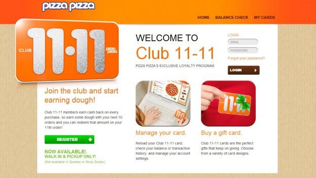 pizza pizza club 1111