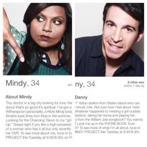mindy project tinder