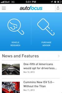 autofocus app homescreen