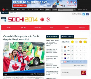 paralympics cbc website