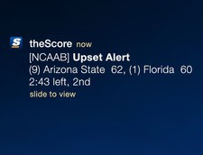the score upset alert