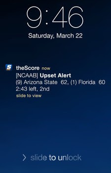 the score upset alert