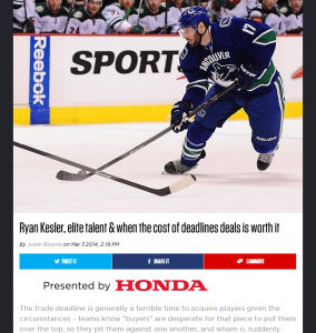 theScore Honda NHL 2014