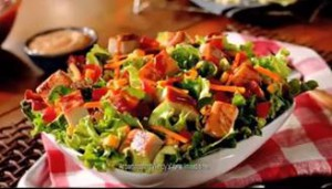wendys salad image chicken