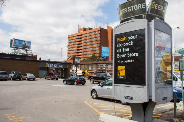 interac flash beer store