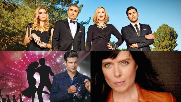 TOP: Schitt's Creek.  BOTTOM-LEFT: Les dieux de la danse.  BOTTOM-RIGHT: This Life.