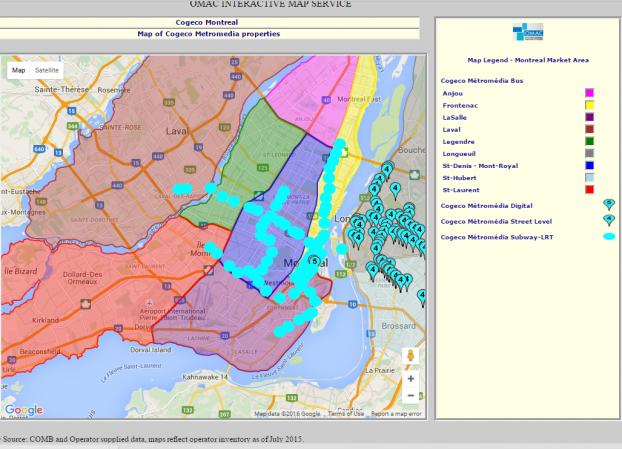 OMac interactive map