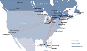 Porter Airlines map