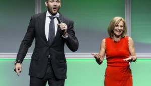 corus - Joel McHale and Barb Williams - crop