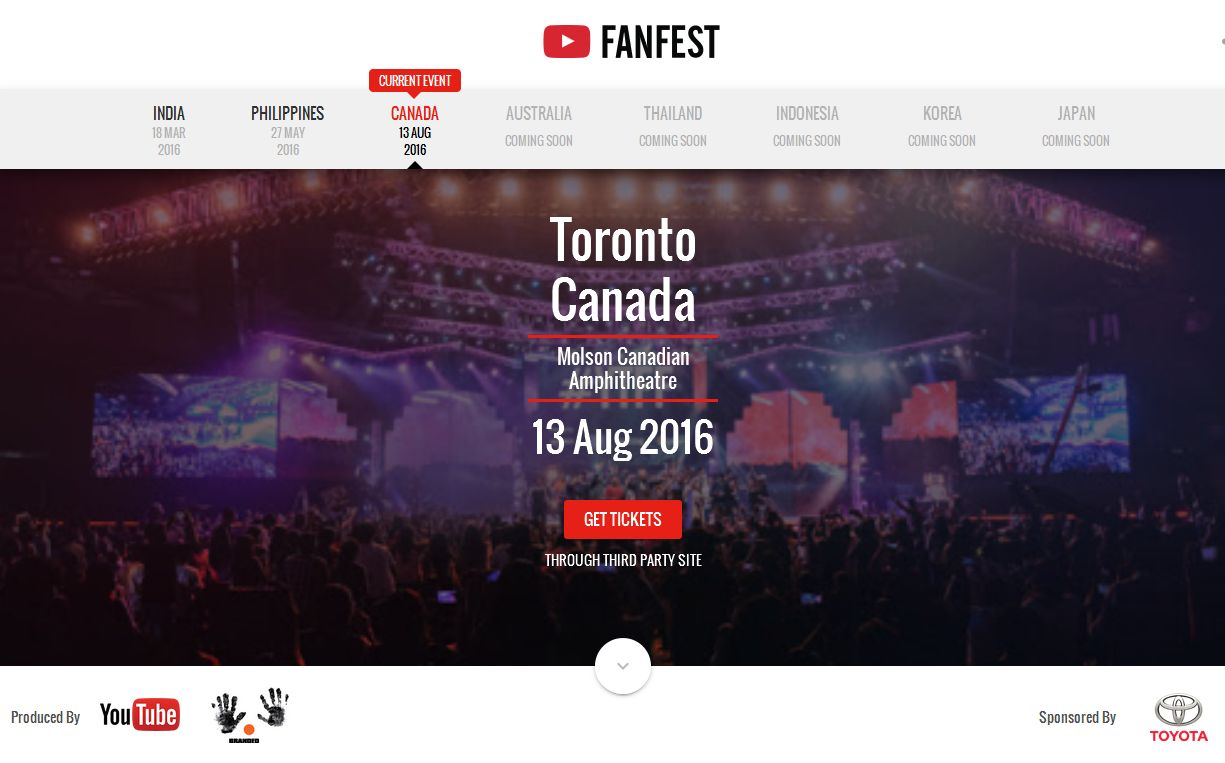 YouTube FanFests Free For All Media In Canada