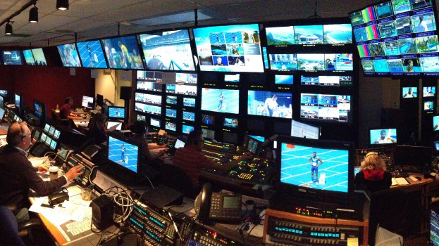CBC Olympic control room