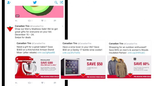 Canadian Tire Carousel Ads
