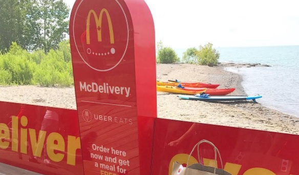 Spotted! McDonald's gets benched » Media in Canada