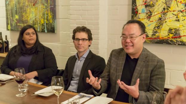 L-R: Cossette Media's Erum Tayyab, Wrigley's Dan Alvo, GE and Haier's Bob Park