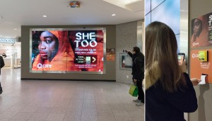 PATTISON Outdoor Reaches CARE Canada Donors with Digital Donation Wall for She Too Campaign