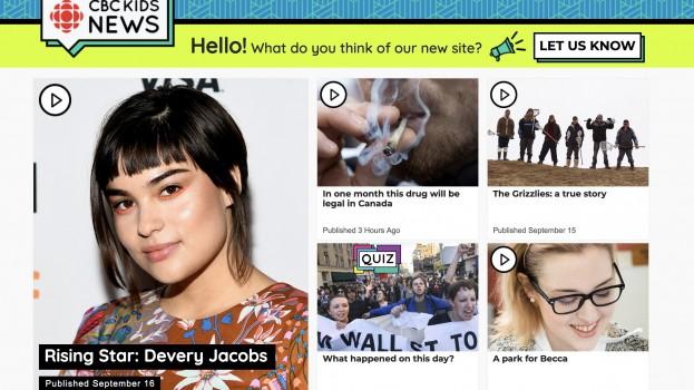 CBC Kids News homepage