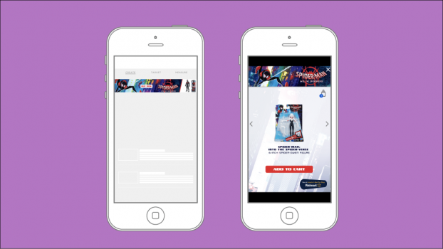 Shoppable cart-in-unit by Verve and Contobox for Disney.