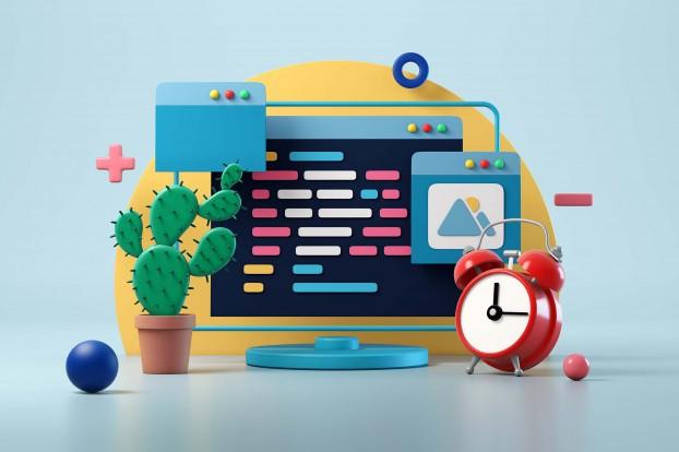 Web design development and coding concept